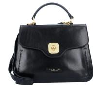 Handtasche 'Hornby' Leder 27 cm schwarz
