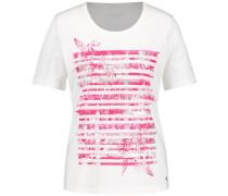 T-Shirt eosin / weiß