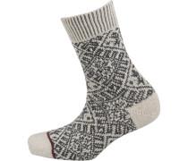 Socken schwarz / naturweiß