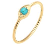 Ring 'Evil Eye' türkis / gold