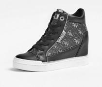 Sneaker 'Fabia' grau / schwarz
