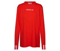 Shirt 'Coeeze Ls' rot / weiß