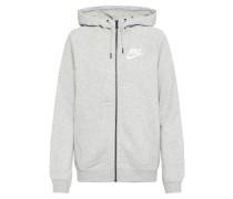 Sweatshirtjacke grau