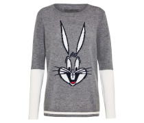 Wollpullover 'bugs bunny intarsia'