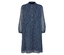 Blusenkleid marine / naturweiß