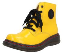 Stiefelette schwarz / gelb