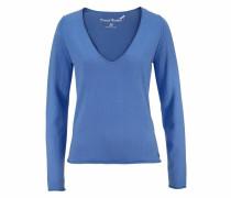 V-Ausschnitt-Pullover royalblau