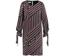 Kleid bordeaux / schwarz / weiß