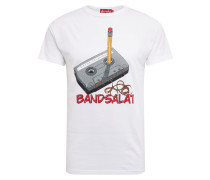 Shirt 'Bandsalat' weiß