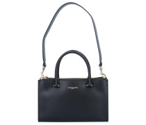 'Camelia' Handtasche Leder 30 cm schwarz