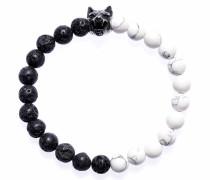 Armband 'Wolfsblut black white 1251'