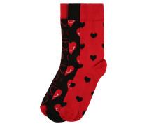Socken 'I Love You' mischfarben
