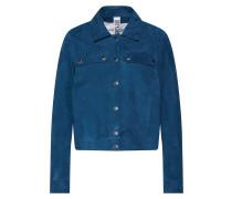 Lederjacke 'dorrington' blau / petrol