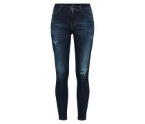 'Lonia' Super Skinny Mid Rise Jeans dunkelblau