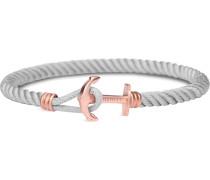 Armband 'Phrep Anker' rosegold / grau