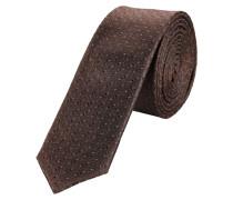Krawatte braun / weiß
