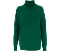 Pullover Relaxed High Neck grün