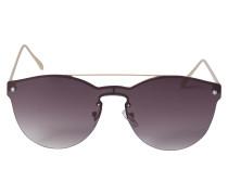 Sonnenbrille mit Metallgestell lila
