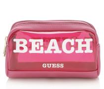 Kosmetiktasche 'paloma' pink / weiß
