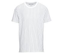 T-Shirt 'RN Pinstr Pique' weiß