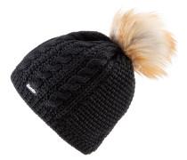 Bommelmütze 'Nelia Lux' schwarz