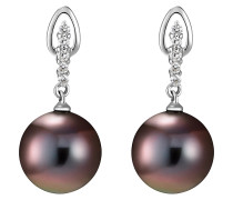 Pearls Ohrstecker burgunder / silber