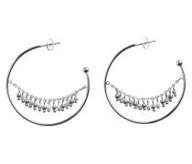 Ohrringe silber / weiß