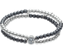 Armband 'Summer Night' anthrazit / silber