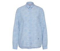 Casual Bluse blau / weiß