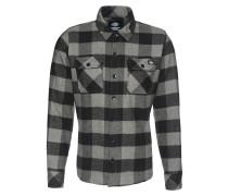 Hemd 'Sacramento' graumeliert / schwarz
