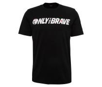 T-Shirt mit Print schwarz / weiß