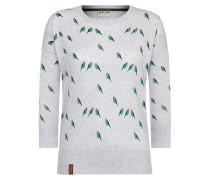 Pullover 'Maja' graumeliert / grün