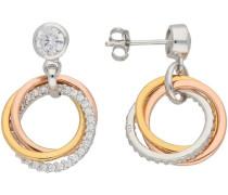 Paar Ohrstecker gold / rosegold / silber
