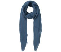Langer einfarbiger Schal taubenblau