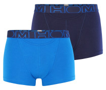 Boxershorts navy / himmelblau