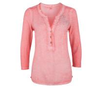 Garment Dye-Bluse mit Artwork