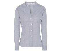 Bluse dunkelblau / weiß