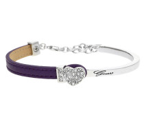 Armband 'Color Chic' dunkellila / silber