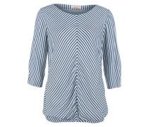 Dobby-Bluse im Streifenlook blau / weiß