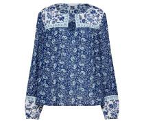 Shirt 'LS ZEN Combo Yoke Top' blau