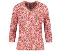 T-Shirt rostrot / weiß