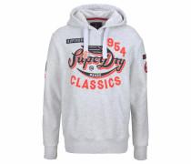 Sweatshirt grau / orangerot / schwarz