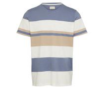 Shirt beige / blau / grau