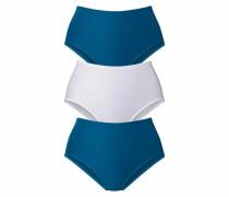 Slip (3 Stück) blau / weiß