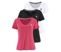 T-Shirt koralle / schwarz / weiß