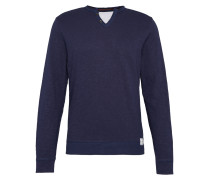 Sweater 'easy sweatshirt with placket'