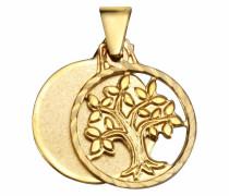 Kettenanhänger »Baum« gold