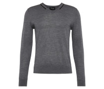 Feinstrick-Pullover 'v-Neck Pullover With Piping'
