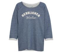 Sweatshirt blaumeliert / weiß