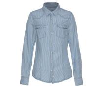 Bluse 'Lilien' hellblau / weiß